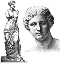 Aphrodite statue vector