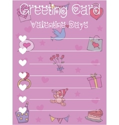 Art of greeting card valentine day vector