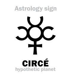 Astrology planet circ vector