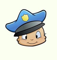 Baby Cop vector image