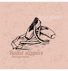 Ballet slippers background vector image