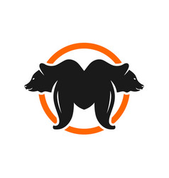 Bear logo with letter m vector