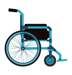 blue wheelchair design medical element icon vector image