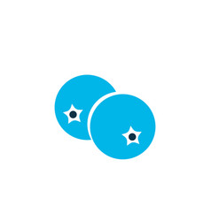 blueberry icon colored symbol premium quality vector image