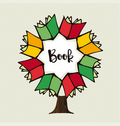 book tree concept for education vector image