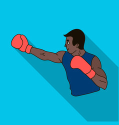 brown boxer in boxing glovesthe olympic sport of vector image