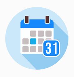 Calendar 31 of december icon vector