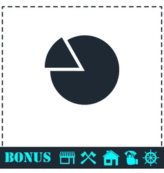 Chart icon flat vector
