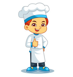 chef boy thumb up pose vector image
