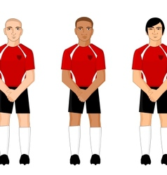 Collection of international football players vector image