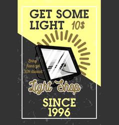 color vintage light shop banner vector image