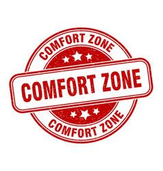 Comfort zone stamp comfort zone label round vector