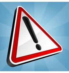 Danger Warning Traffic Sign vector image