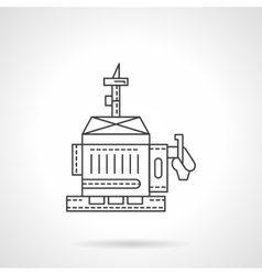 Diesel generator flat line icon vector image