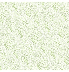 Doodles hand drawn branches background pattern vector image