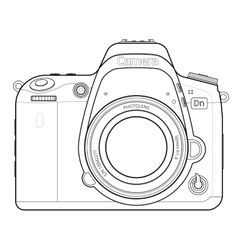 DSLR Camera Outline vector image