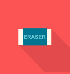 eraser icon set of great flat icons design vector image