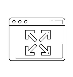 Expansion line icon vector