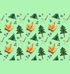 forest picnic pattern vector image