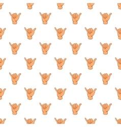 Gesture shaka pattern cartoon style vector