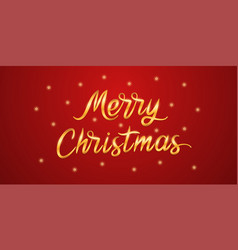 golden lettering of merry christmas vector image