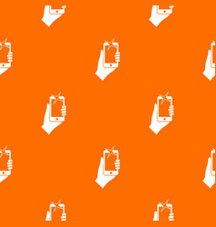 hand photographed on mobile phone pattern seamless vector image