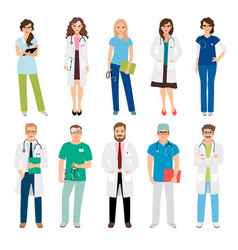 healthcare medical team workers vector image