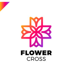 Isolated abstract colorful cross logo vector