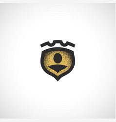 Isolated abstract medieval shield logo coat of vector