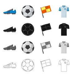 isolated object of soccer and gear logo vector image