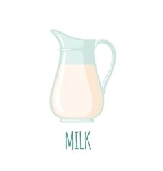 Milk jug icon vector