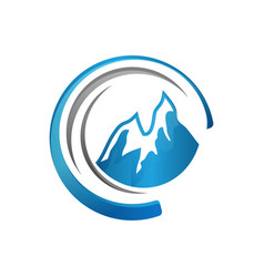 mountain icon symbol for outdoor vector image