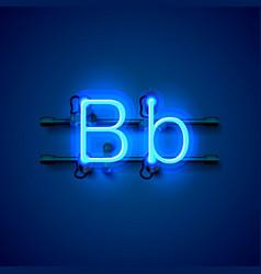 Neon font letter b art design singboard vector