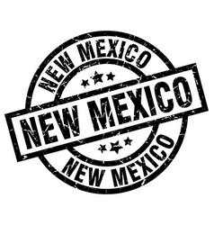 New mexico black round grunge stamp vector