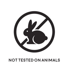 not tested on animals icon vector image