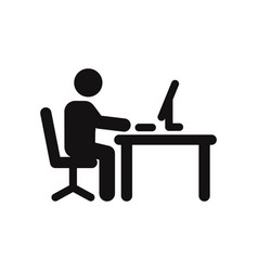 office worker icon vector image