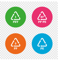 Pet pp-pe and pp polyethylene terephthalate vector
