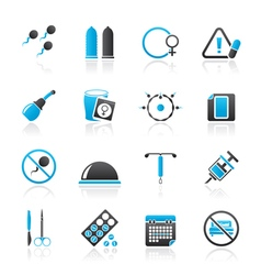 Pregnancy and contraception Icons vector image