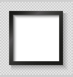 Realistic picture frame isolated vector