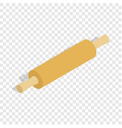 rolling pin isometric icon vector image