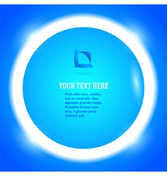 round frame your message bright blue button vector image