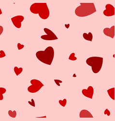 seamless happy valentines day background with hear vector image