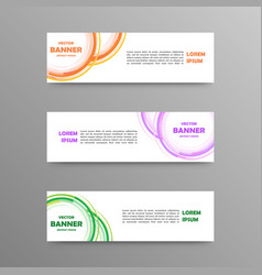 set of color banners abstract design vector image