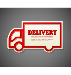 Simple card a truck shape transportation vector