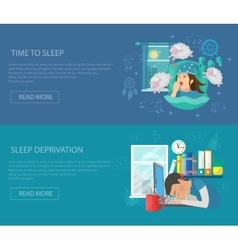 Sleep Time Banner vector