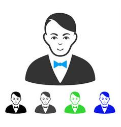 Smiling dealer icon vector