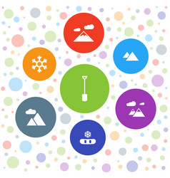 snow icons vector image