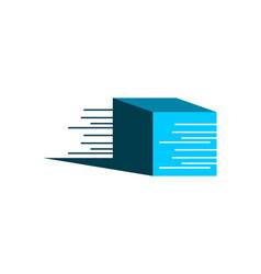 Speed box icon logo design element vector