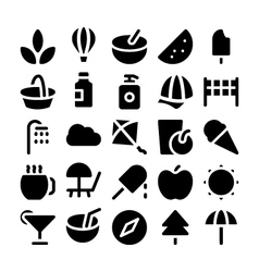 Summer icons 4 vector