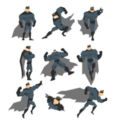 Superhero Actions Set in Comics Style vector